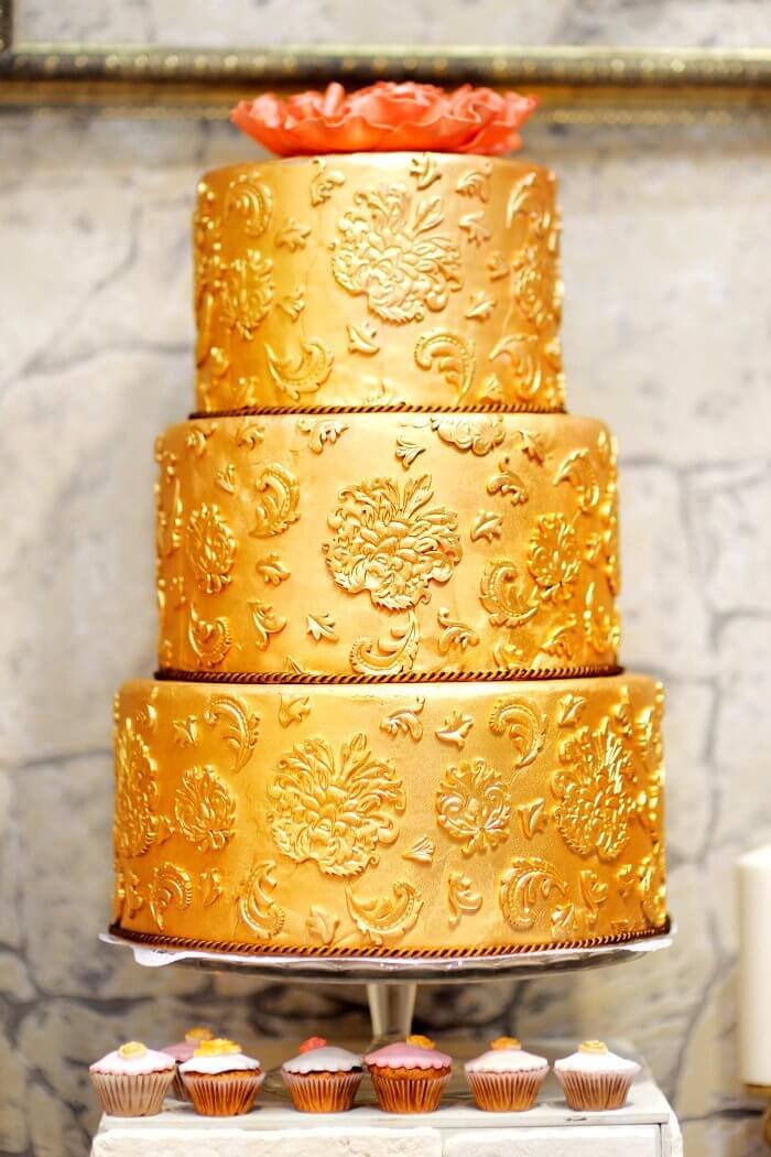 Hochzeitstorte Goldhochzeit