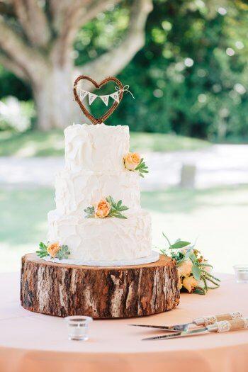 Hochzeitstorte Landhausstil