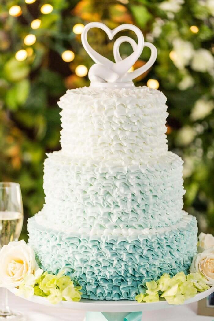 Hochzeitstorte mit Ombre Effekt