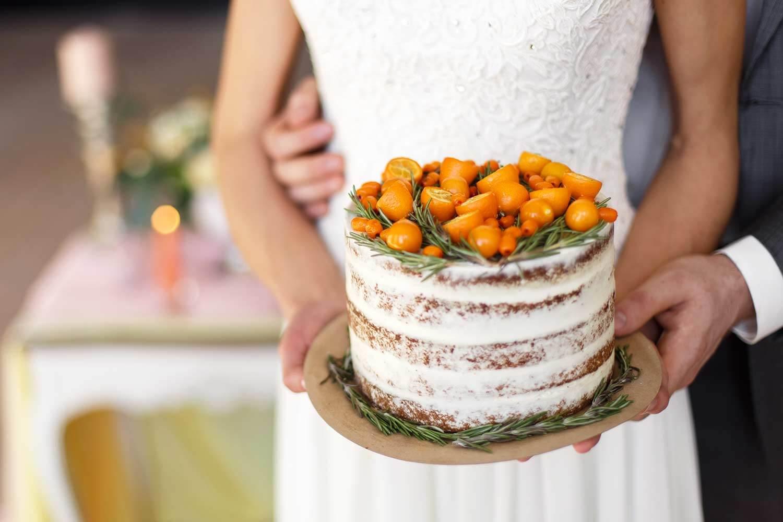 Naked Torte zur Hochzeit
