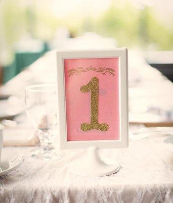 Bilderrahmen Tischnummer