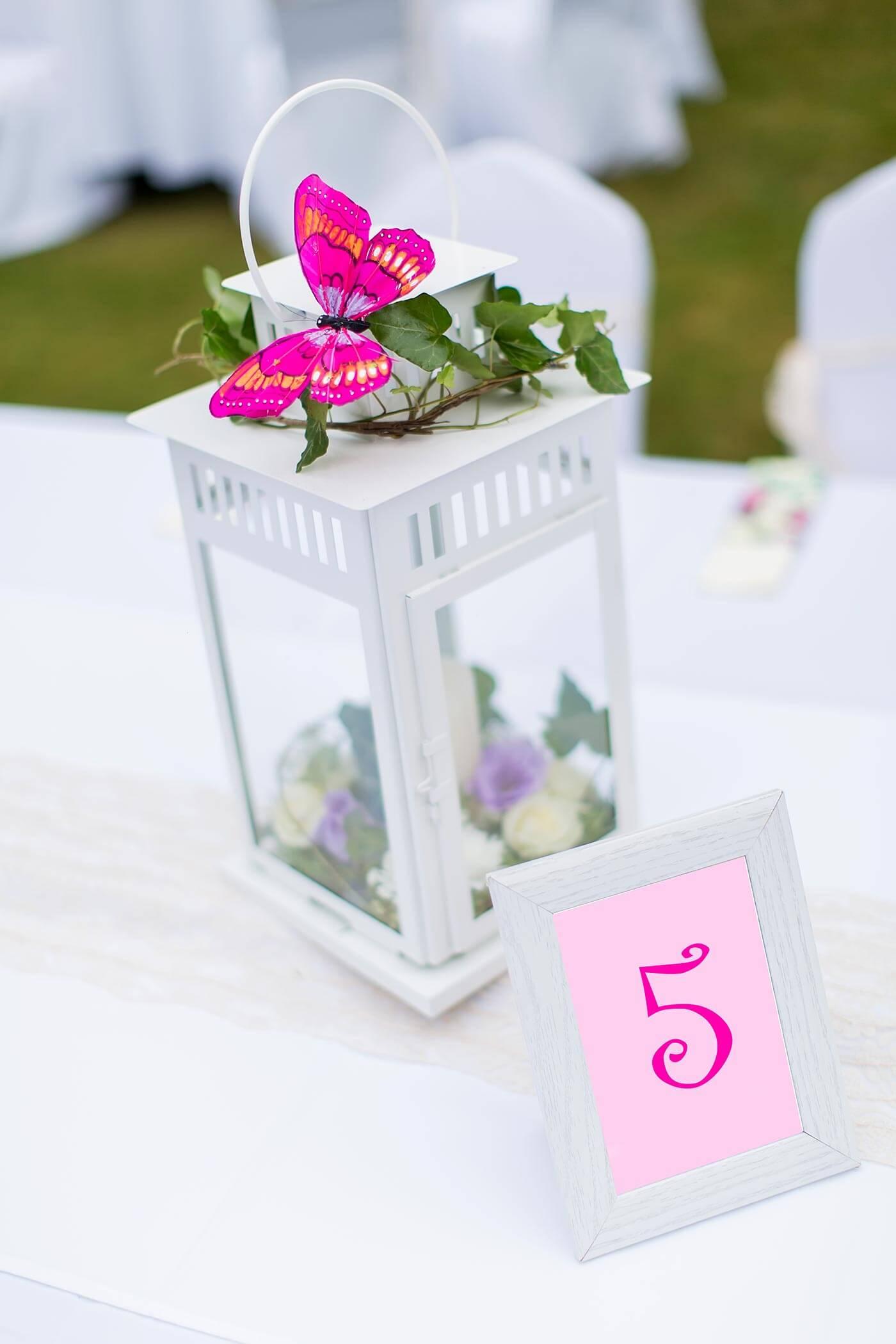 Hochzeitsdeko Schmetterling