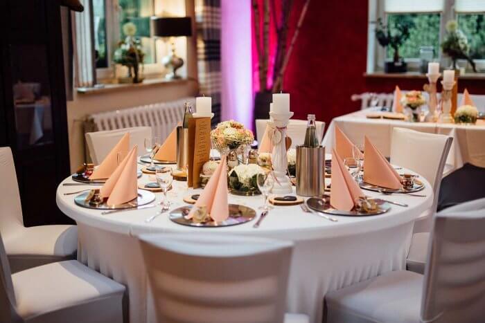 Hochzeitsdeko in pastell Farben