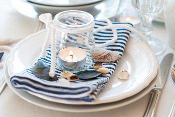 Maritime Tischdeko Hochzeit