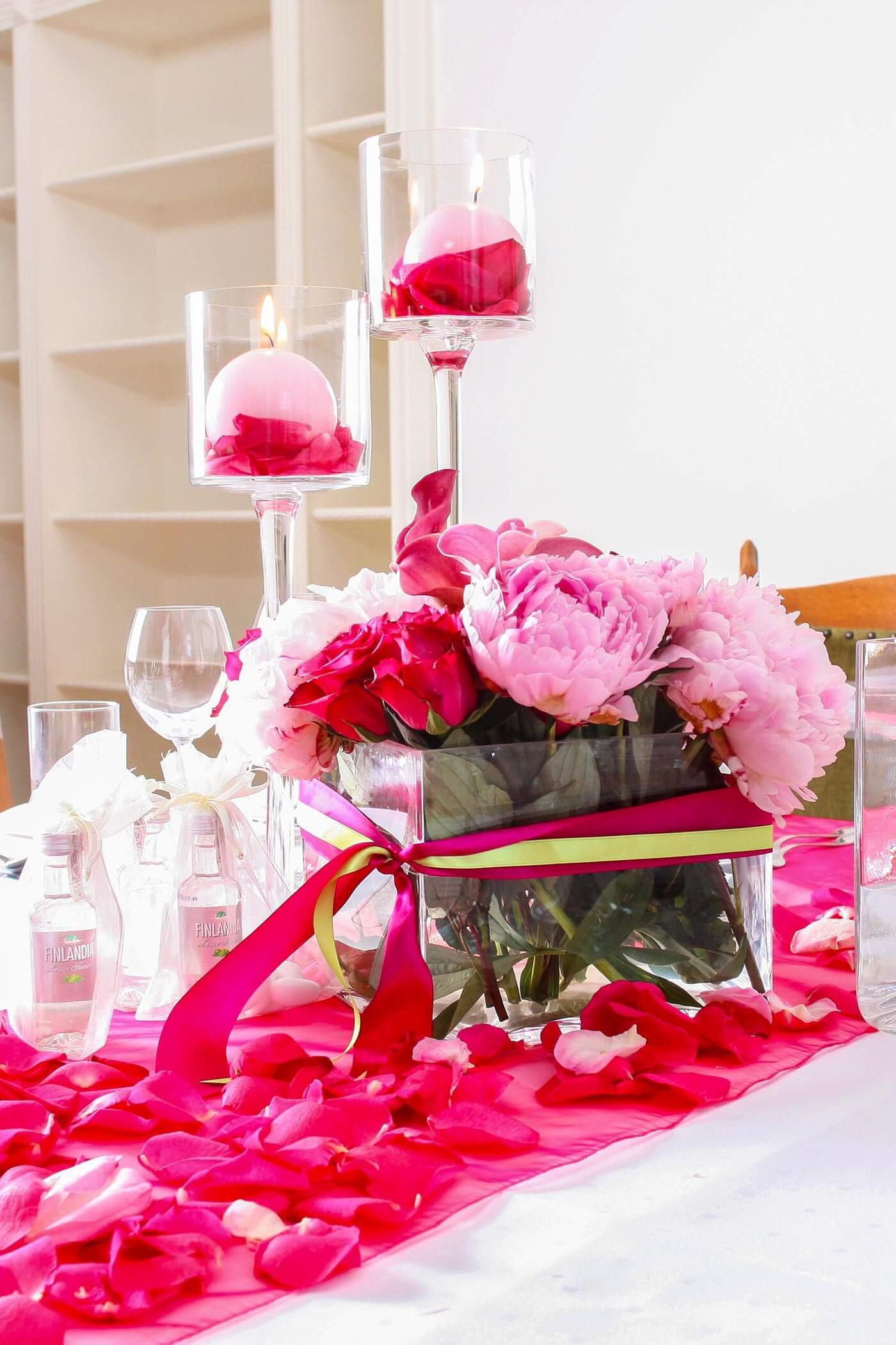 Pinke Tischdeko