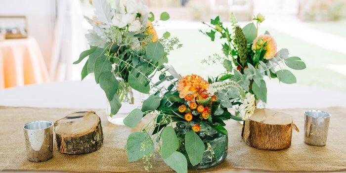 Rustikale Hochzeitsdeko