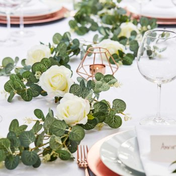 Tischdeko Hochzeit Eukalyptus