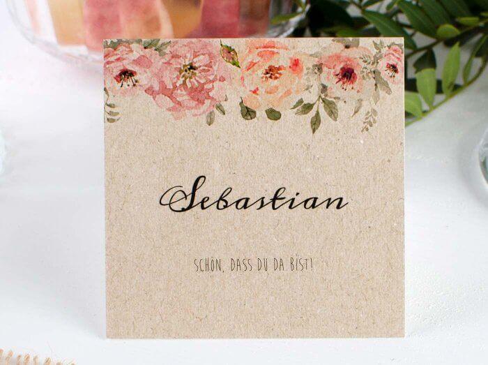 Hochzeit Tischkarten
