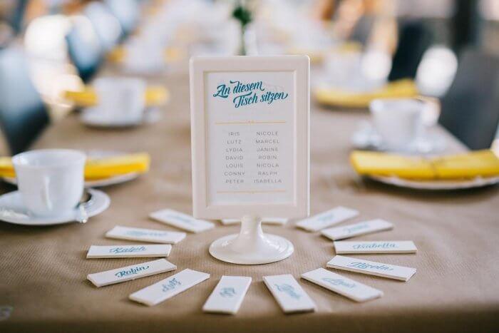 Namensschilder Tisch