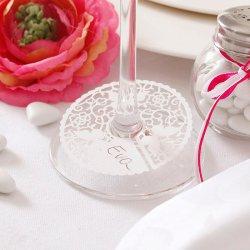 Tischkarte Schmetterling am Glas