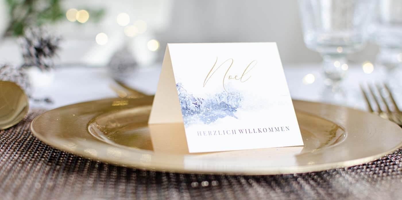 Tischkarte Weihnachten