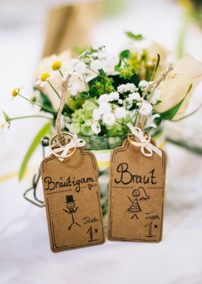 Tischkarten Brautpaar
