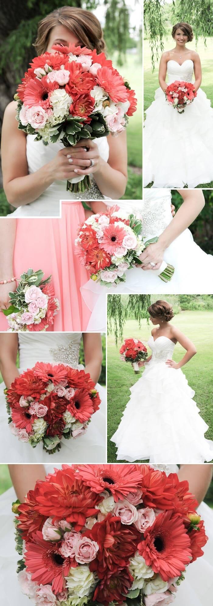 Brautstrauß Beispiele in Rot