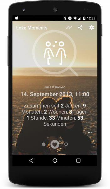 Love Moments App   Der praktische Beziehungsrechner mit