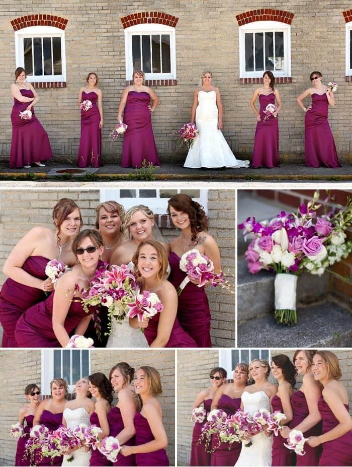 Brautjungfernkleid Lila