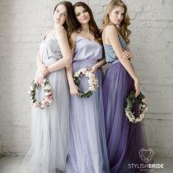 Brautjungfernkleid Flieder