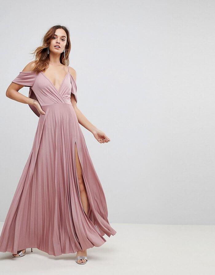 Brautjungfernkleid Pastell Rosa