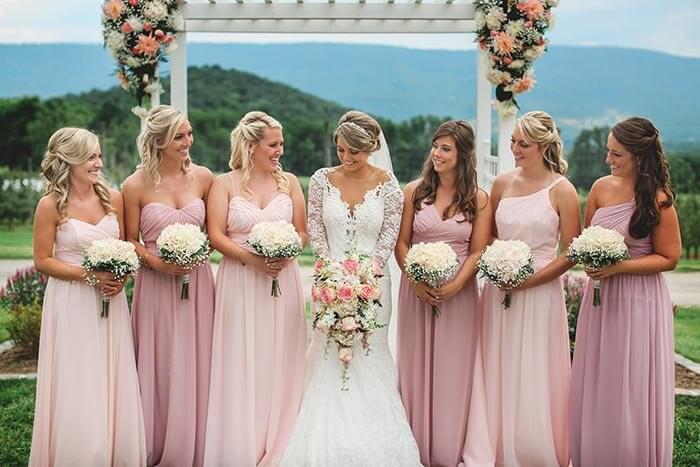 Brautjungfernkleider Hellrosa