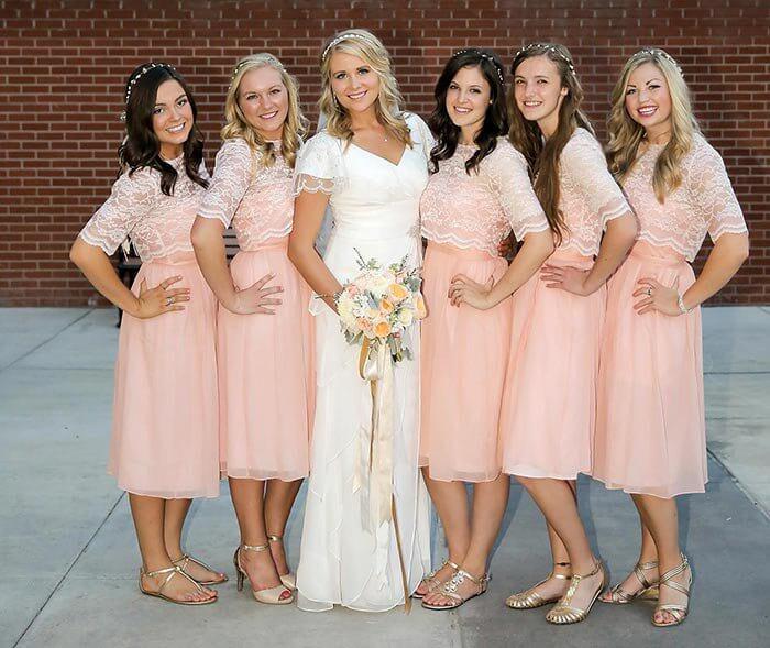 Rosa Brautjungfernkleid