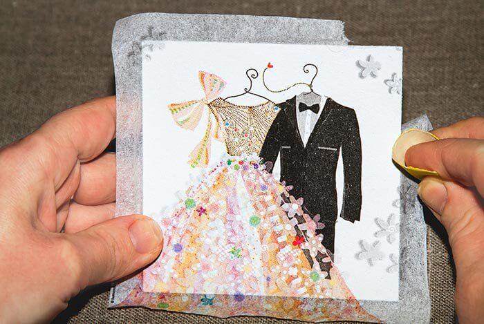 Hochzeit Serviettentechnik