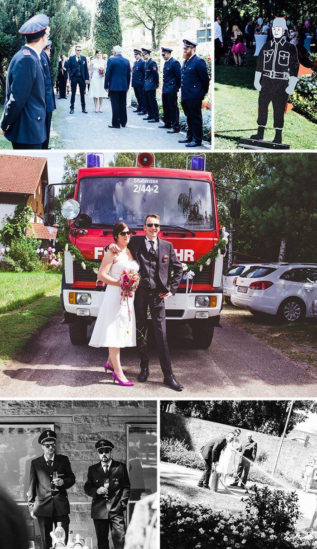 Feuerwehr Brautpaar