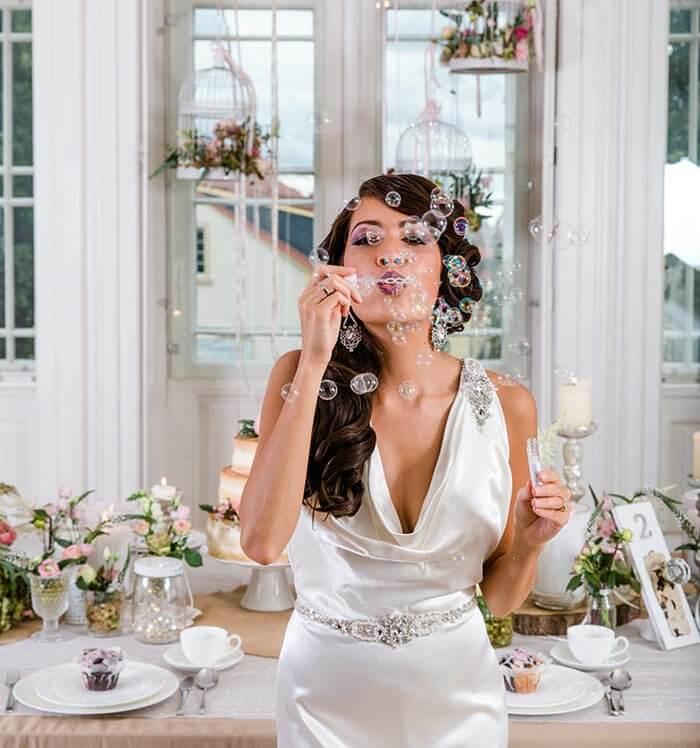 Requisiten für Hochzeitsbilder