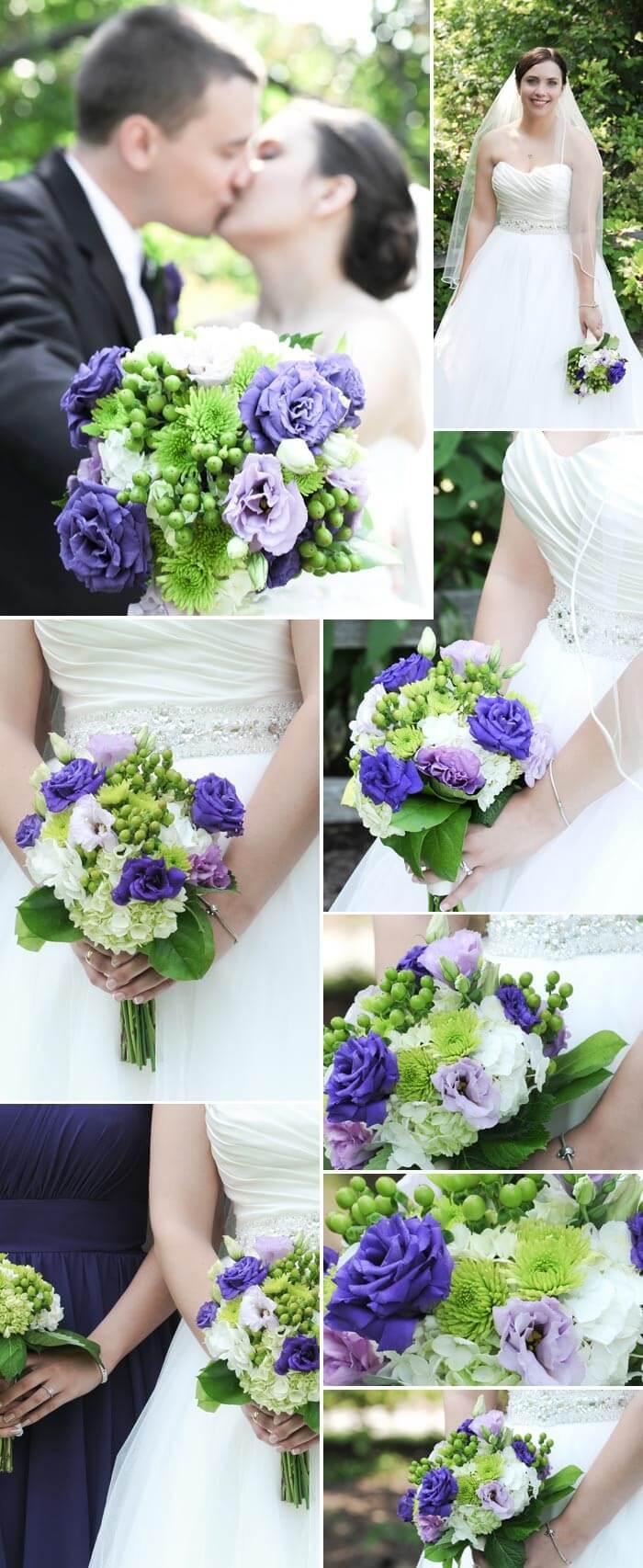 Brautstrauß Beispiele Blau und Grün