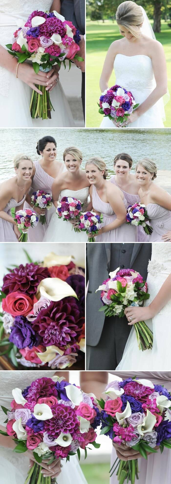 Brautstrauß Beispiele in Lila