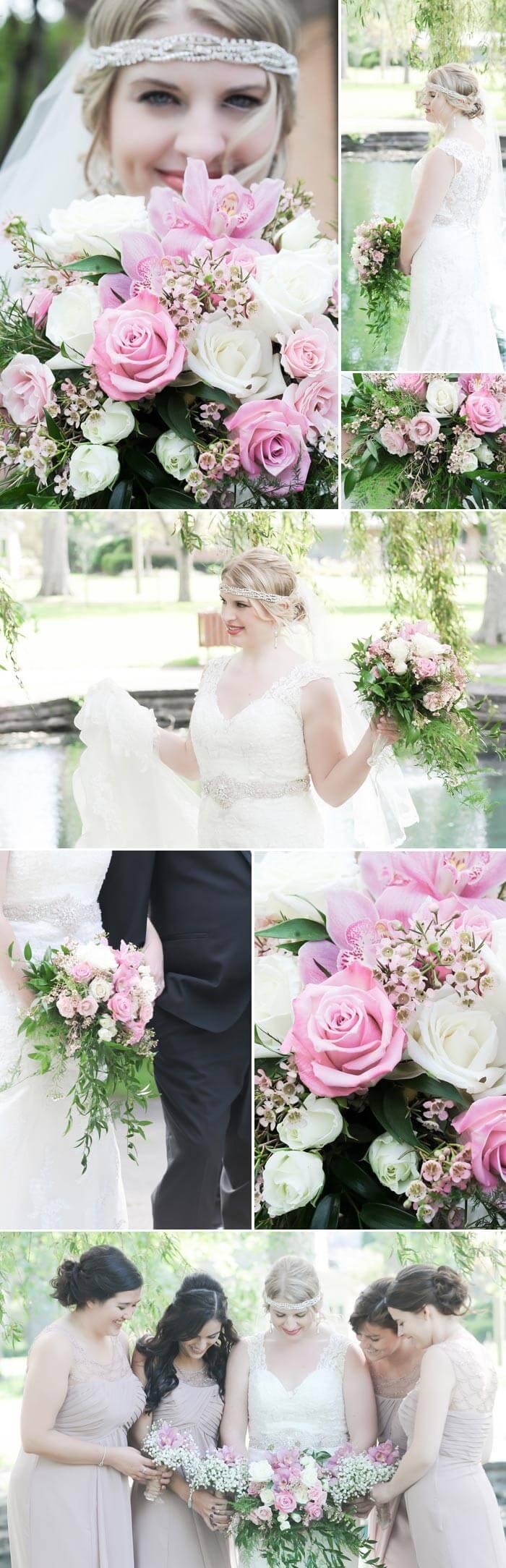 Brautstrauß Beispiele in Rosa