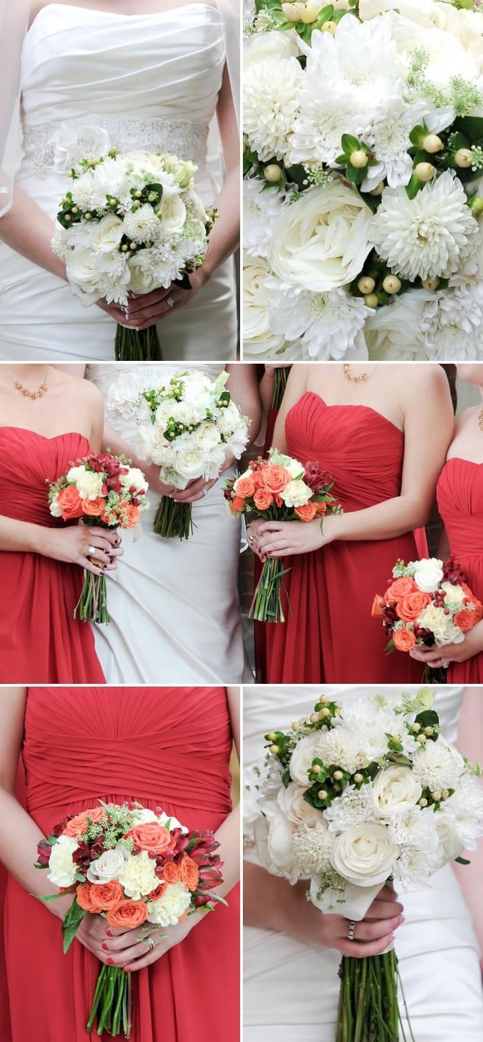 Brautstrauß Beispiele in Weiß