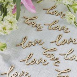 Holzkonfetti Hochzeit