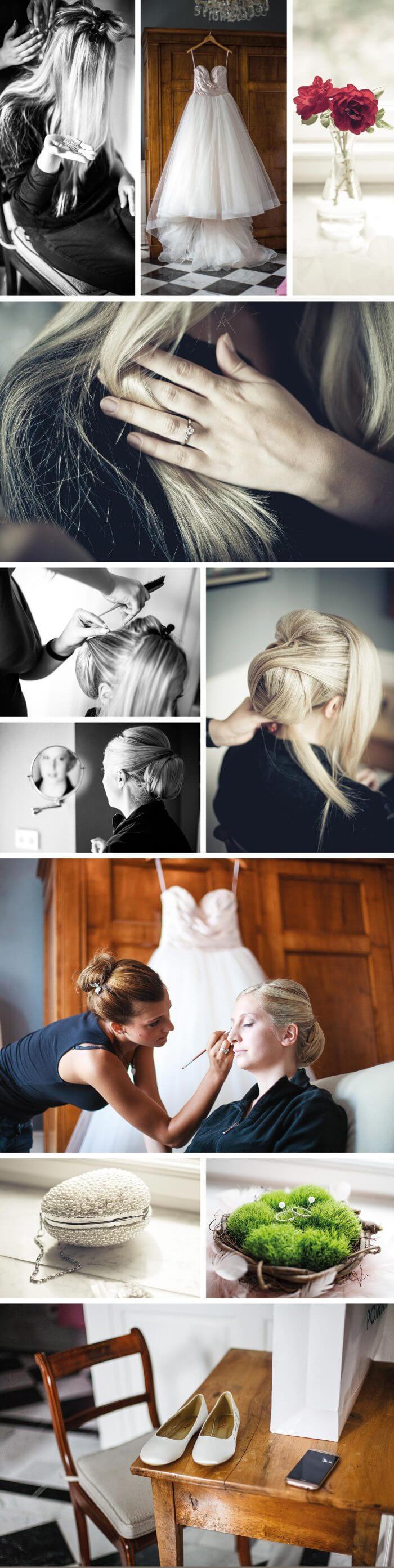 Hochzeit im Schloss, Getting Ready der Braut