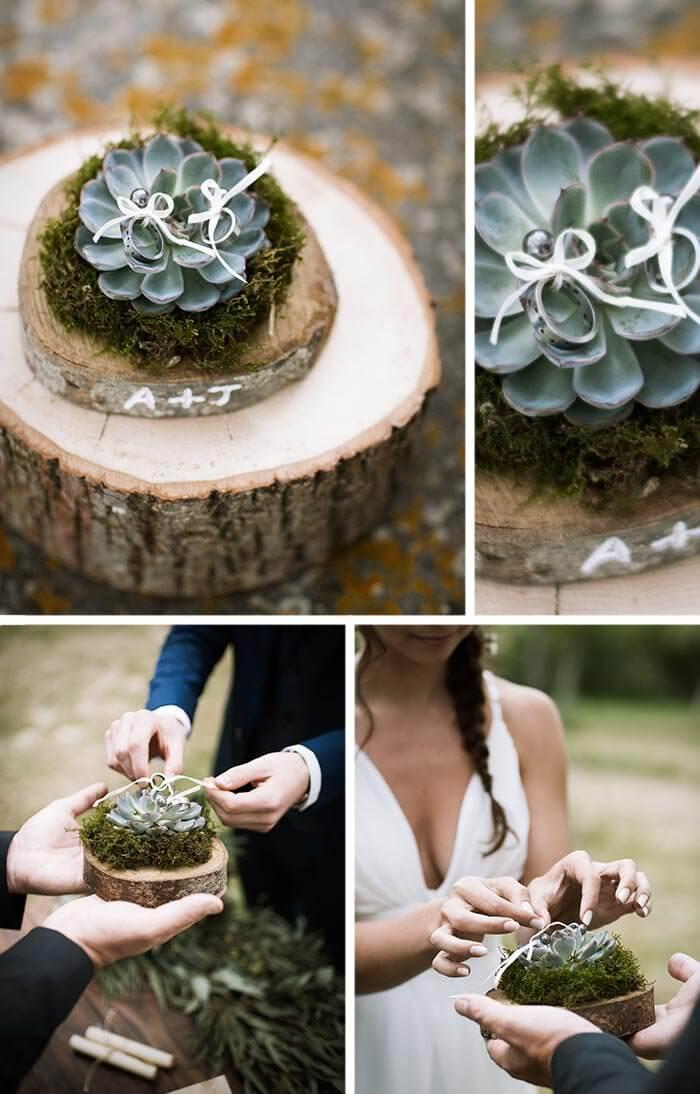 Sukkulenten Hochzeit Ringschale