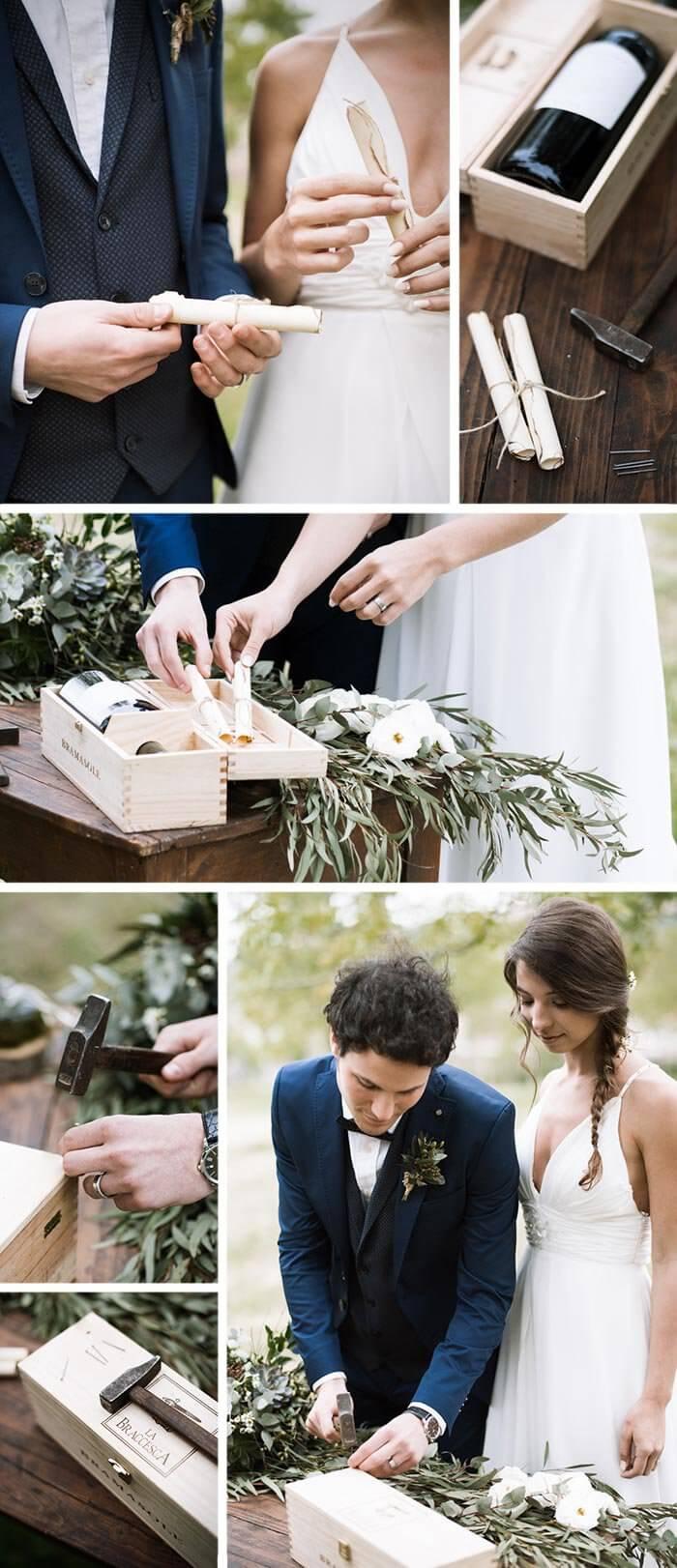 Zeitkapsel Hochzeit Sukkulenten