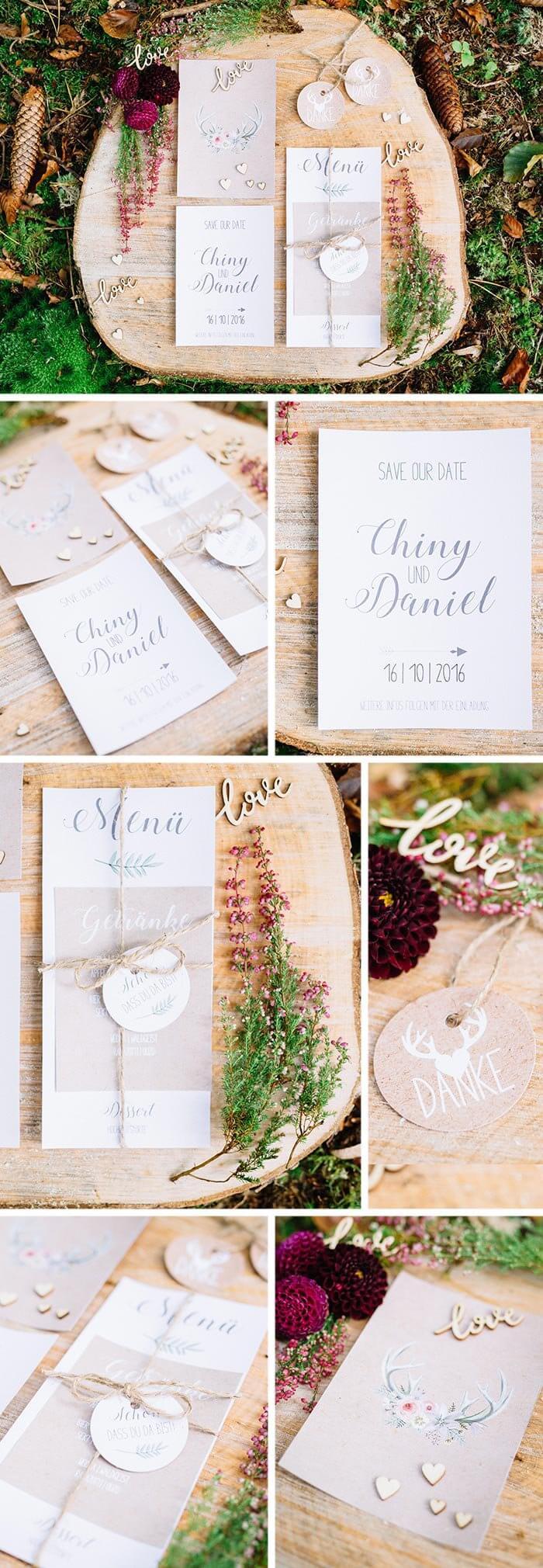 Hochzeitseinladungen Natur