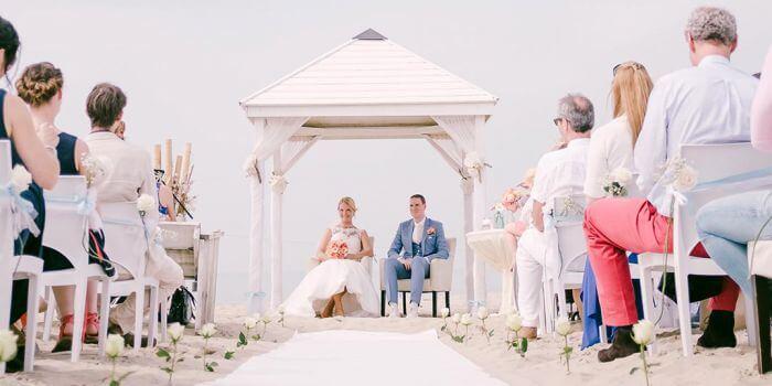 Heiraten Holland am Strand