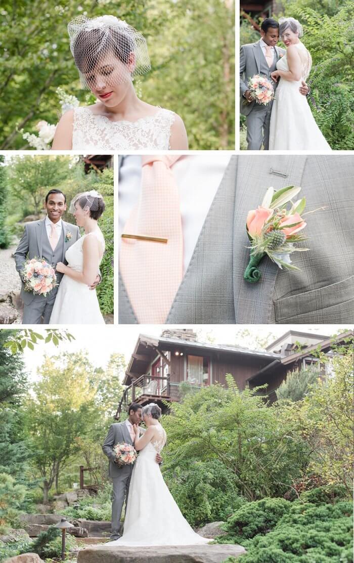 Grauer Hochzeitsanzug