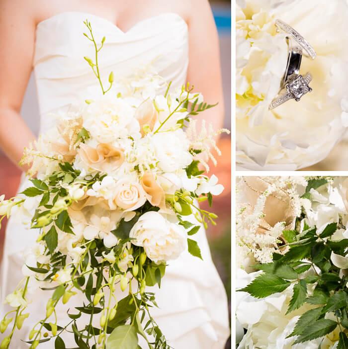 Grüner Brautstrauß