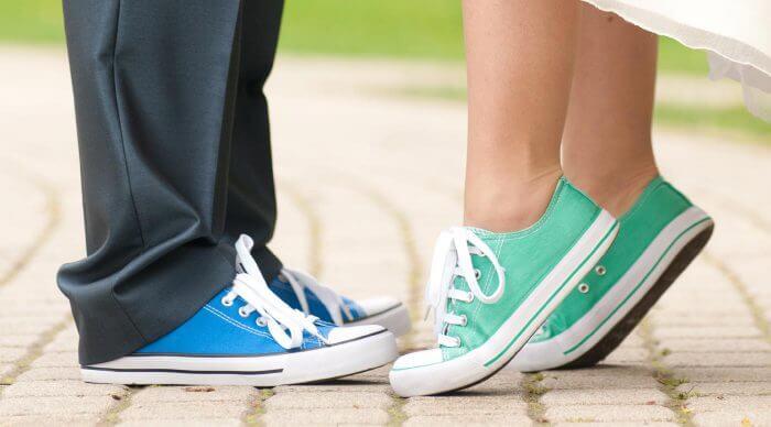 Sneakers zur Hochzeit