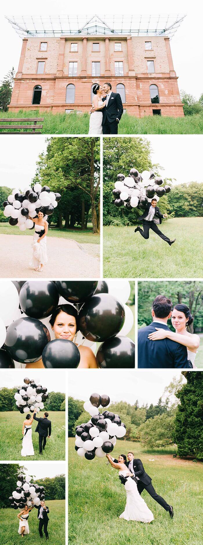 Schwarz Weiße Hochzeitsdeko