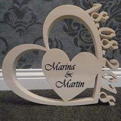 Holzherzen Hochzeit