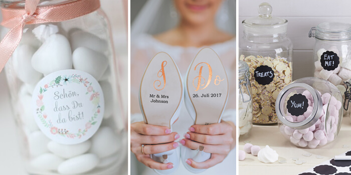 Aufkleber Hochzeit