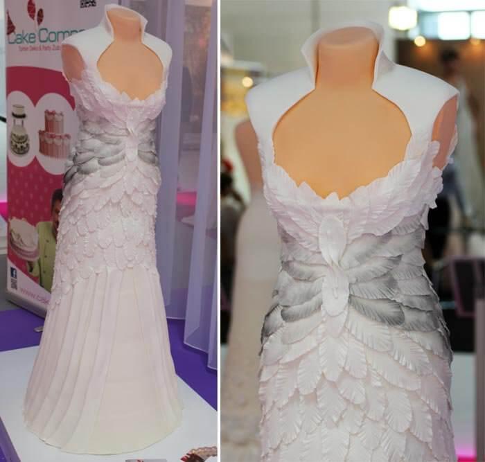 Besondere Hochzeitstorte Brautkleid