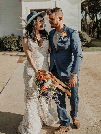 Boho Brautpaar