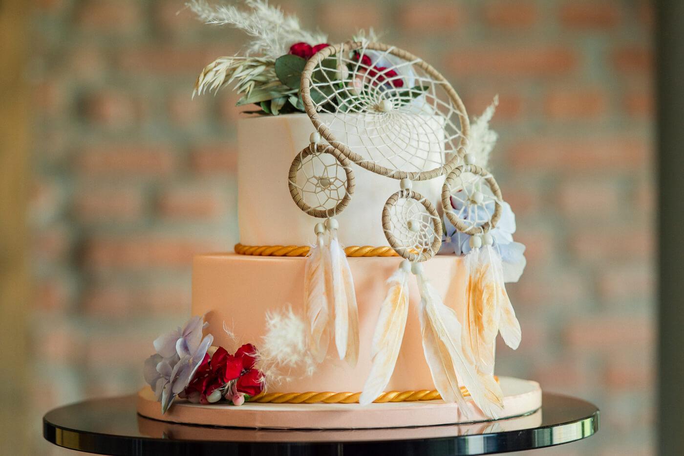 Hochzeitstorte Boho Style