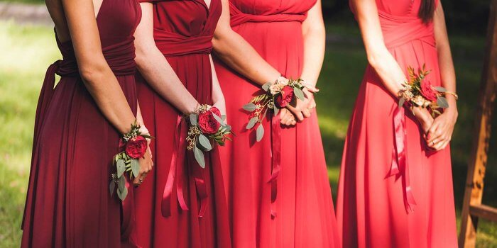Brautjungfernkleider Rot