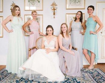 Pastell Brautjungfernkleid