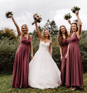 Brautjungfernkleider Mauve