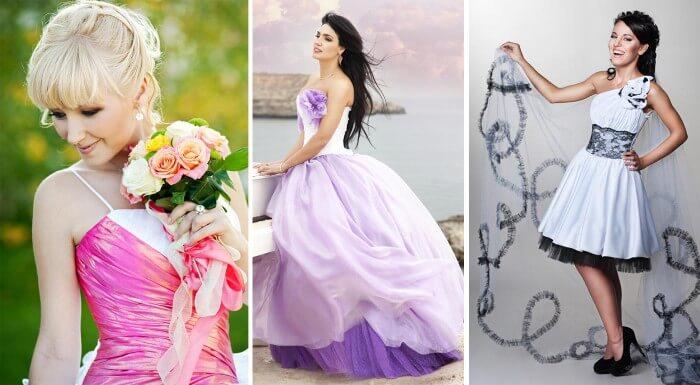Brautkleider fürs Standesamt in farbig
