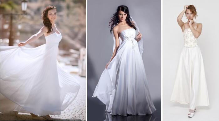 Brautkleider fürs Standesamt in lang